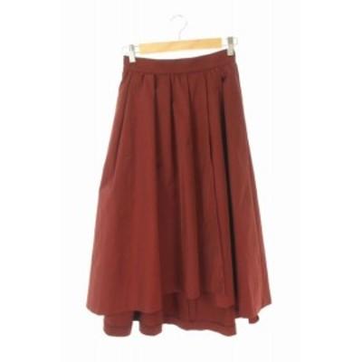 【中古】ドレステリア DRESSTERIOR スカート フレア ロング 3 赤 /KN ■OS レディース