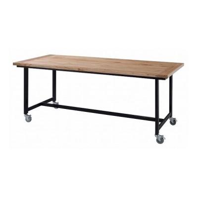 ダイニングテーブル 幅180×奥行80×高さ72 天然木化粧繊維板 ラッカー塗装 スチール 代引不可