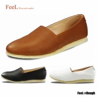 レディース レザー フラットシューズ スリッポン 歩きやすい 靴 ブランド フィール FeeL FE-10 Dough ドォウ