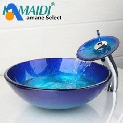 洗面ボウル 蛇口セット アンティーク ヨーロッパ風 YANKSMART ブルー