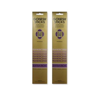 GONESH インセンスエクストラリッチ スティック FRANKINCENSEフランキンセンス (2パック40本組)
