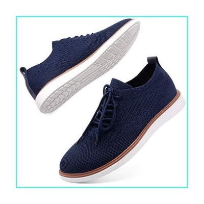 【新品】L-RUN Mens Walking Shoes Mesh Knit Sneakers Casual Outdoor Shoes Navy 12 M US(並行輸入品)