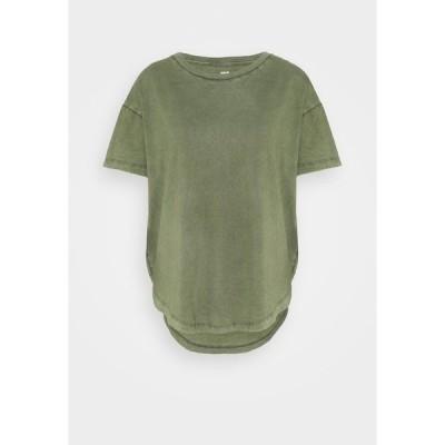 エアリー Tシャツ レディース トップス BASIC TEE - Basic T-shirt - olive fun