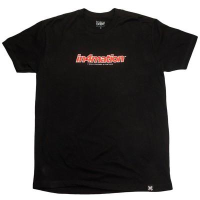 IN4MATION/インフォメーション 半袖Tシャツ 90's Clean Tee (ブラック)