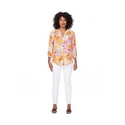 NYDJ エヌワイディージェー レディース 女性用 ファッション ブラウス Blouse w/ Pleated Back - Beach Garden