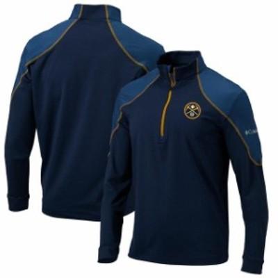 Columbia コロンビア スポーツ用品  Denver Nuggets Columbia Omni-Wick Half-Zip Panel Pullover Jacket - Navy/Gold