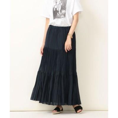 スカート SHIPS any:ティアードプリーツスカート◇