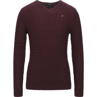 フィフティー フォー FIFTY FOUR メンズ ニット・セーター トップス Sweater Maroon