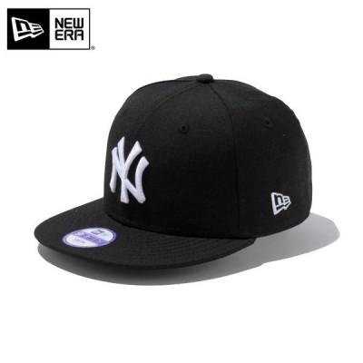 【メーカー取次】NEW ERA ニューエラ Youth キッズ用 9FIFTY MLB ニューヨーク ヤンキース ブラックXホワイトロゴ 12336556 キャップ 子供用 ブランド【Sx】