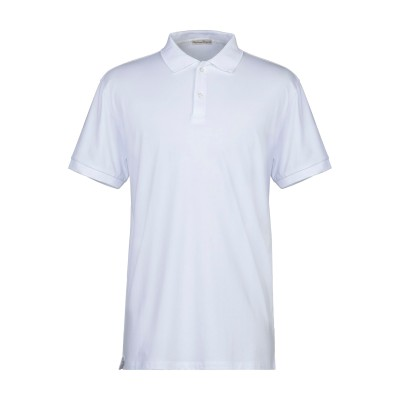 CASHMERE COMPANY ポロシャツ ホワイト 48 コットン 100% ポロシャツ
