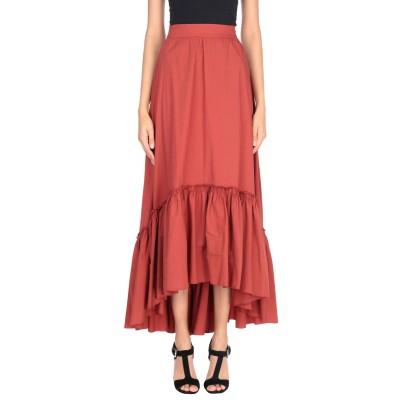 ジジル JIJIL ロングスカート 赤茶色 44 コットン 78% / ナイロン 19% / ポリウレタン 3% ロングスカート