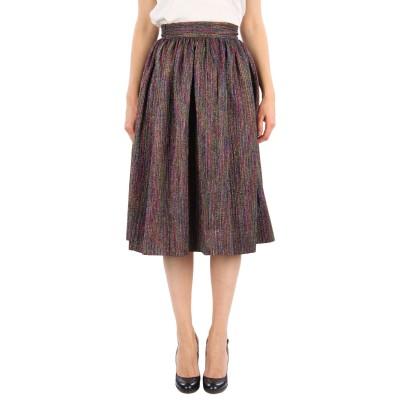 SUOLI 7分丈スカート グリーン 38 ポリエステル 60% / 金属 40% 7分丈スカート