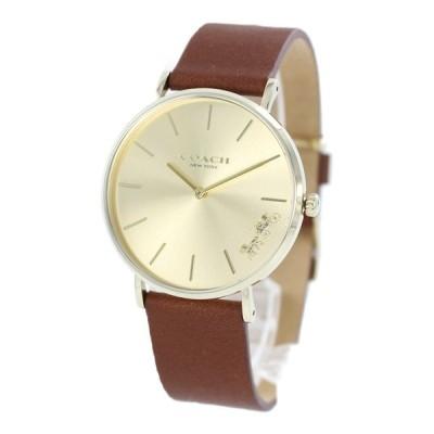 コーチ レディース ボーイズサイズ PERRY ペリー ゴールドケース ブラウン レザー 14503331 腕時計