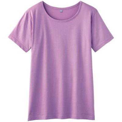 インド綿半袖Tシャツレディース/オーキッドピンク/M