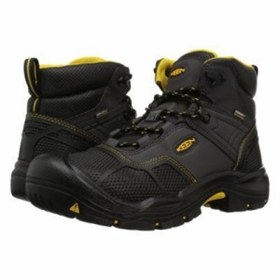 キーン ブーツ Logandale Waterproof Steel Toe Raven/Black