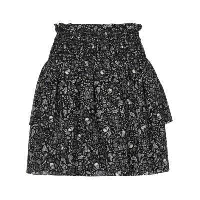 SAINT LAURENT ミニスカート ブラック 36 シルク 100% ミニスカート