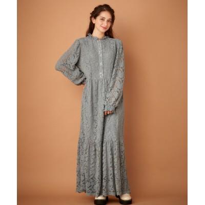 【大きいサイズ】 オリーブ。デ。オリーブ レースロングワンピース ワンピース, plus size dress