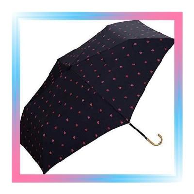 雨傘折りたたみ傘レディース傘袋付きタイニーハートミニ50cm9850