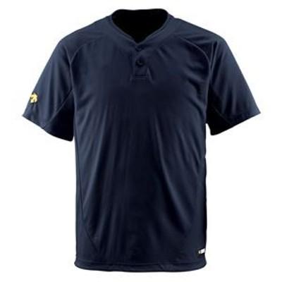 デサント(DESCENTE) ベースボールシャツ(2ボタン) (野球) DB201 ブラック S