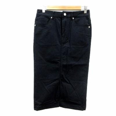 【中古】ナノ&コー nano&co タイトスカート ミモレ ロング 36 黒 ブラック /MN レディース