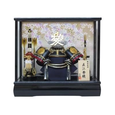 五月人形-ケース入り-間口43×奥行30×高さ38cm-12号直江兜ケース飾り-YN30348GKC