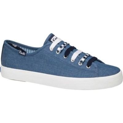 ケッズ スニーカー シューズ レディース Draper James Chambray Kickstart Sneaker (Women's) Indigo Chambray Fabric