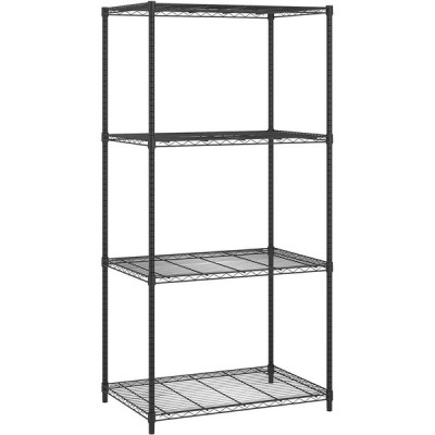 """OFM Core Collection X5 Series Adjustable Wire Shelving Unit 36 x 72, 24"""" Depth, in Black【並行輸入品】"""
