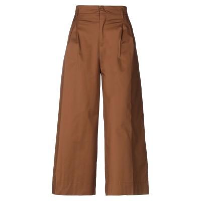 CARACTÈRE パンツ ブラウン 48 コットン 98% / ポリウレタン 2% パンツ
