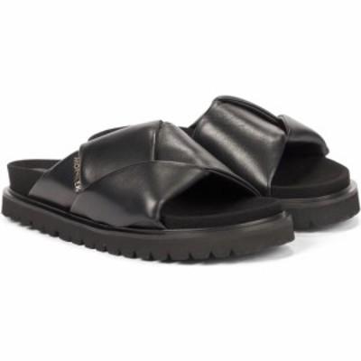 モンクレール Moncler レディース サンダル・ミュール シューズ・靴 Fantine leather slides
