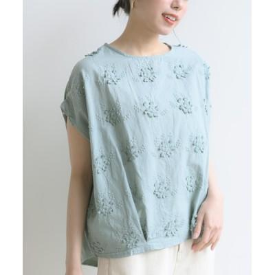 rps / 3D刺繍レースプルオーバー WOMEN トップス > Tシャツ/カットソー