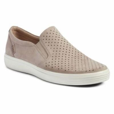 エコー スリッポン・フラット Soft 7 Retro Slip-On Sneaker Moonrock Leather