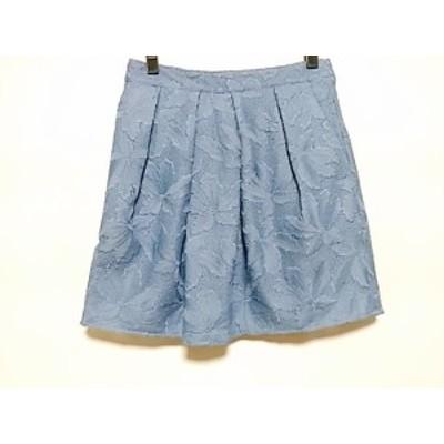 ドゥドゥ DouDou ミニスカート サイズ38 M レディース 美品 ブルー【中古】