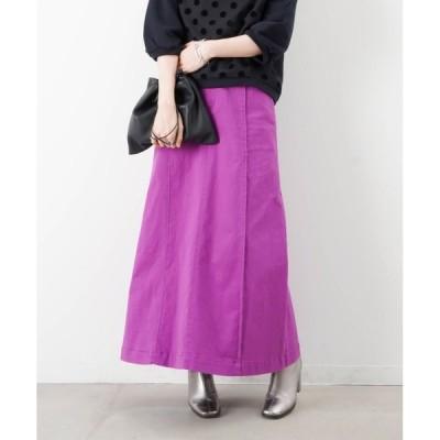 スカート LC/LLL カツラギストレッチフレアロングスカート