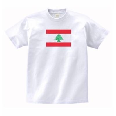 国 国旗 Tシャツ レバノン 白