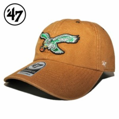 47ブランド カーハート コラボ ストラップバックキャップ 帽子 メンズ レディース 47BRAND CARHARTT NFL フィラデルフィア イーグルス フ