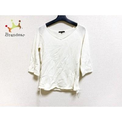 ニジュウサンク 23区 七分袖セーター サイズ38 M レディース 美品 白   スペシャル特価 20201218