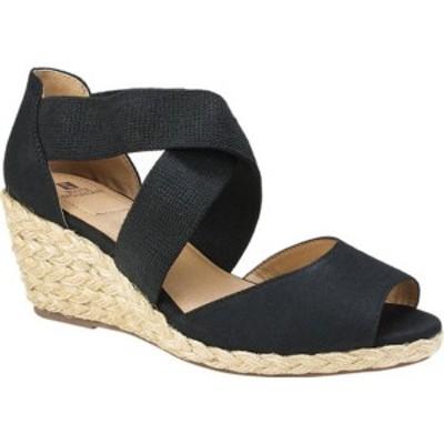 ホワイトマウンテン レディース サンダル シューズ Hudlin Strappy Wedge Sandal Black Fabric