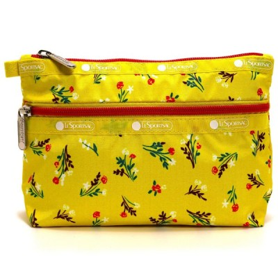LeSportsac レスポートサック ポーチ COSMETIC CLUTCH YUCCA YELLOW BOUQUET