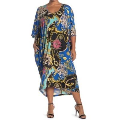 コルデシナ レディース ワンピース トップス Patti Kaftan Dress (Plus Size) STATUS PRINT