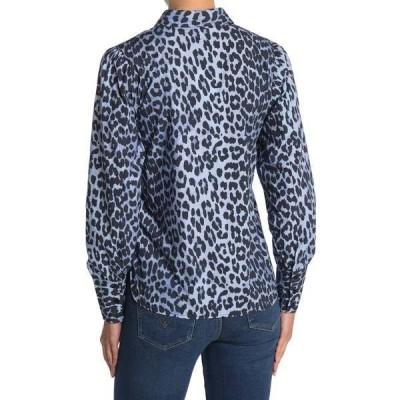 ガニー レディース シャツ トップス Printed Cotton Poplin Shirt SERENITY BLUE