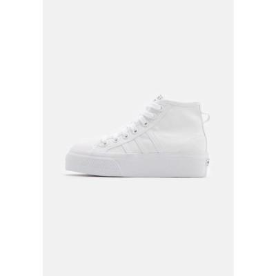 アディダス レディース 靴 シューズ NIZZA PLATFORM MID - High-top trainers - footwear white