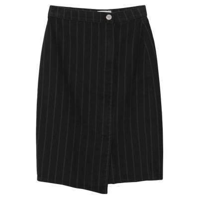 GESTUZ デニムスカート ブラック 34 コットン 100% デニムスカート