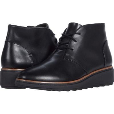 クラークス Clarks レディース ブーツ シューズ・靴 Sharon Hop Black Leather