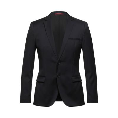 HUGO HUGO BOSS テーラードジャケット ブラック 46 バージンウール 100% テーラードジャケット