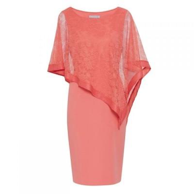 ジーナ バッコーニ Gina Bacconi レディース ワンピース ワンピース・ドレス Carlotta Lace Cape Dress Dahlia