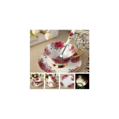 コーヒーカップセット ヨーロッパ アンティーク プリンセスローズ