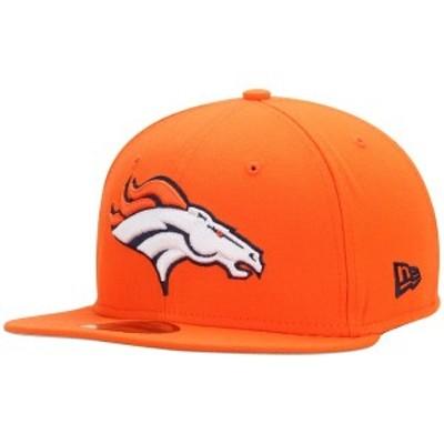 ニューエラ メンズ 帽子 アクセサリー Denver Broncos New Era State Clip 59FIFTY Fitted Hat Orange