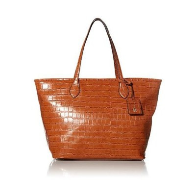 Steve Madden Taylin Tote Bag, Croco Cognac並行輸入品 送料無料