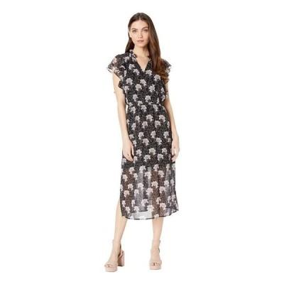 ワンステイト レディース ワンピース トップス Bloomsbury Floral Flounce Sleeve Midi Dress