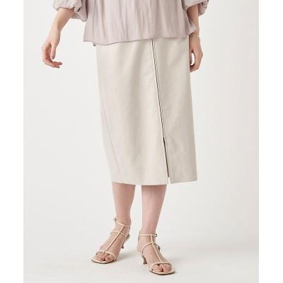 【《女性らしいシルエットが魅力》手洗い可】エコスウェードジップスカート